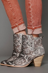 free people pattern ankle boot
