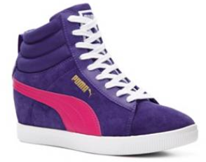 puma sneakers sneaker hi-top high-top hi high top purple violet pink fuschia athletic girly cute