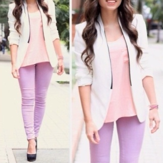 pretty girly pastel pastels color colors pink purple cute fashion color block blocking